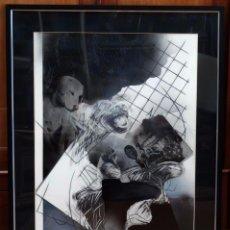 Arte: JAVIER PUERTOLAS (BINÉFAR, HUESCA, 1947) TECNICA MIXTA Y COLLAGE (SCHWEYK EN LA II GUERRA MUNDIAL). Lote 94634527