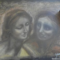 Arte: LEONARDO DA VINCI OBRA DE ARTE ORIGINAL ESCUELA DE ARTE. Lote 94693719