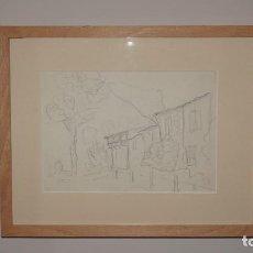 Arte: DIBUJO DE JOAQUIM MIR TRINXET, SANT PRIVAT D'EN BAS. Lote 94776207