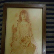 Arte: DIBUJO AL PASTEL O SANGUINA DEL ILUSTRADOR TEODORO DELGADO. Lote 94816315