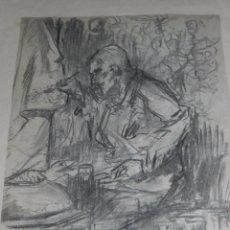 Arte: (M) DIBUJO ORIGINAL DE EUGENIO LUCAS VELAZQUEZ ( 1817 - 1870 ) DIBUJO A CARBON , 50 X 35'5 CM,. Lote 95065847