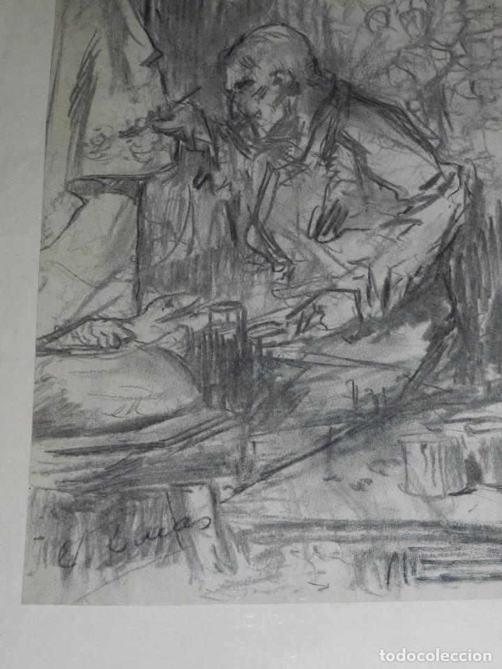 Arte: (M) DIBUJO ORIGINAL DE EUGENIO LUCAS VELAZQUEZ ( 1817 - 1870 ) DIBUJO A CARBON , 50 X 355 CM, - Foto 3 - 95065847