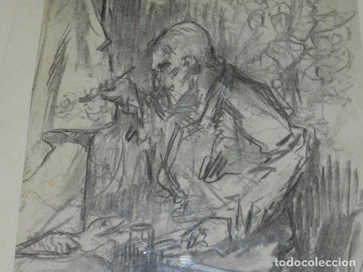 Arte: (M) DIBUJO ORIGINAL DE EUGENIO LUCAS VELAZQUEZ ( 1817 - 1870 ) DIBUJO A CARBON , 50 X 355 CM, - Foto 5 - 95065847