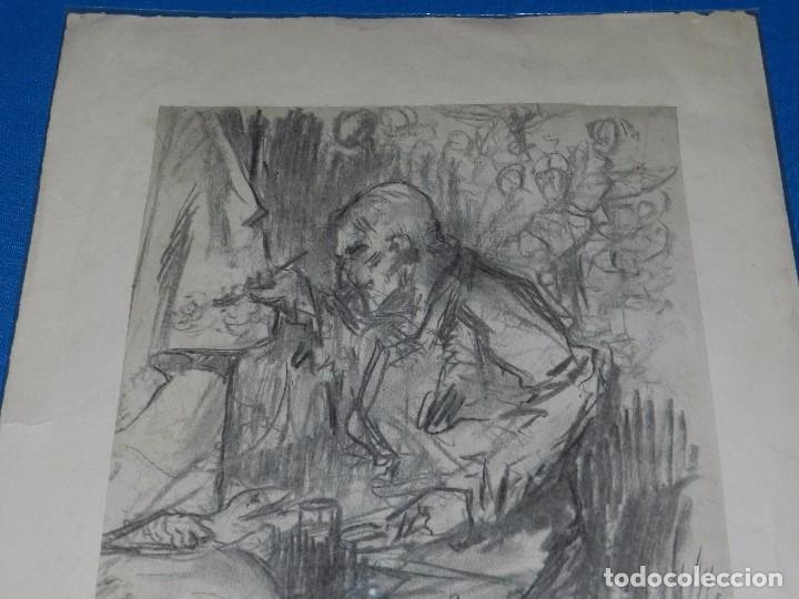 Arte: (M) DIBUJO ORIGINAL DE EUGENIO LUCAS VELAZQUEZ ( 1817 - 1870 ) DIBUJO A CARBON , 50 X 355 CM, - Foto 6 - 95065847