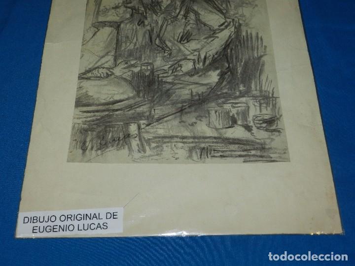 Arte: (M) DIBUJO ORIGINAL DE EUGENIO LUCAS VELAZQUEZ ( 1817 - 1870 ) DIBUJO A CARBON , 50 X 355 CM, - Foto 7 - 95065847