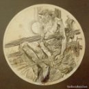 Arte: DIBUJO A LAPIZ ENMARCADO DE ISA BARNETT. AUTOR NORTEAMERICANO.. Lote 95065959