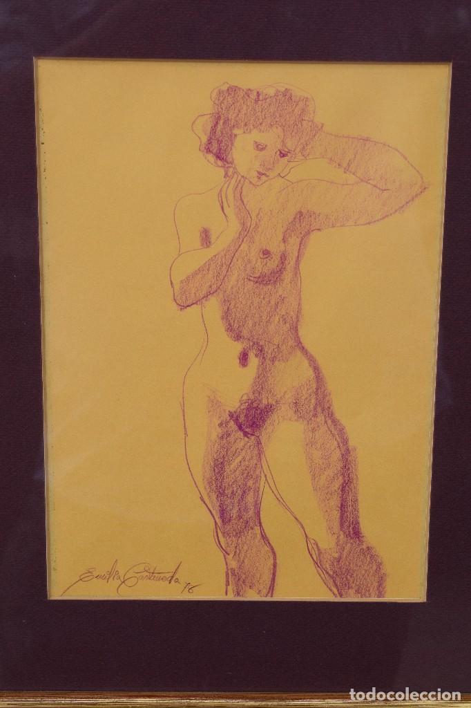 EMILIA CASTAÑEDA - DIBUJO FIRMADO (Arte - Dibujos - Contemporáneos siglo XX)
