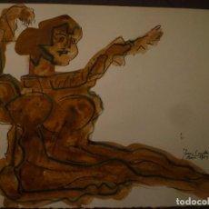Arte - JOAN COMELLAS. DIBUJO Y ACUARELA. 25 x 32'5 cm - 95418035