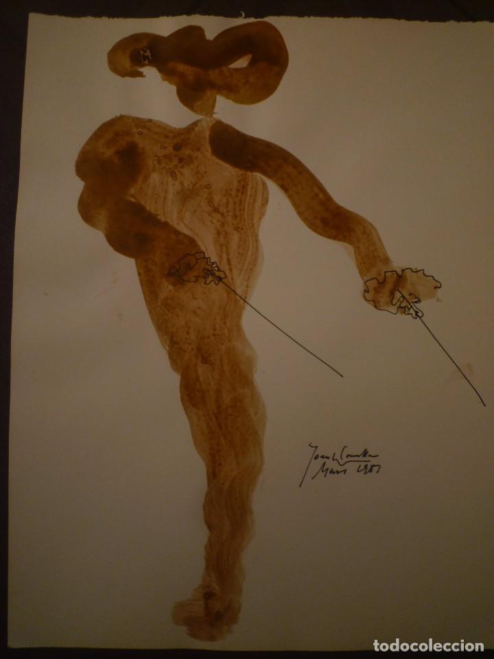 JOAN COMELLAS. TAUROMAQUIA. DIBUJO Y ACUARELA. 25 X 32'5 (Arte - Dibujos - Contemporáneos siglo XX)