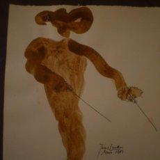 Arte: JOAN COMELLAS. TAUROMAQUIA. DIBUJO Y ACUARELA. 25 X 32'5. Lote 95419143