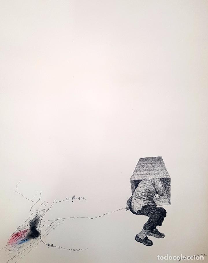 AUTORIA DESCONOCIDA. TECNICA MIXTA FECHADO DEL AÑO 1977 (Arte - Dibujos - Contemporáneos siglo XX)