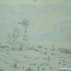 Arte: ANGEL ARIAS CRESPO. DIBUJO GRAN TAMAÑO AÑO 1960. 44 X 33 DIBUJO 67X 57 MARCO EXTREMADURA CACERES. Lote 95886671