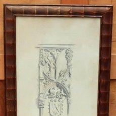 Arte: DIONIS BAIXERAS I VERDAGUER (BARCELONA , 1862 - 1943) DIBUJO A LAPIZ FIRMADO. APUNTE ARQUITECTONICO. Lote 95997655