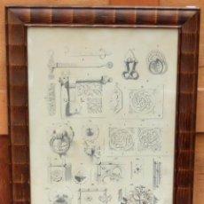 Arte - DIONIS BAIXERAS I VERDAGUER. DIBUJO A LAPIZ FIRMADO. APUNTES ARQUITECTONICOS - 95999139