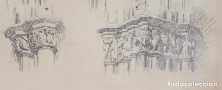 Arte: DIONIS BAIXERAS I VERDAGUER. DIBUJO A LAPIZ FIRMADO. APUNTES ARQUITECTONICOS - Foto 6 - 95999839