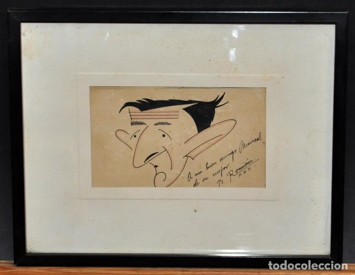 FIRMADO B. ROMÁN. DIBUJO A TINTA Y ACUARELADO. FECHADO DEL 1930 (Arte - Dibujos - Contemporáneos siglo XX)
