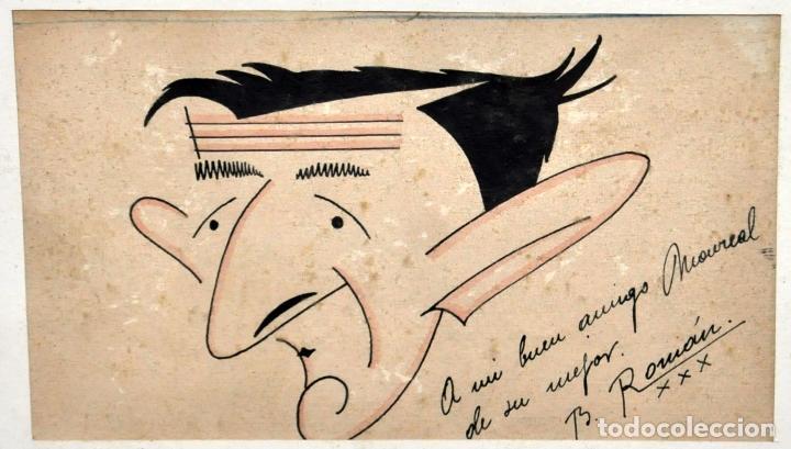 Arte: FIRMADO B. ROMÁN. DIBUJO A TINTA Y ACUARELADO. FECHADO DEL 1930 - Foto 2 - 96067147