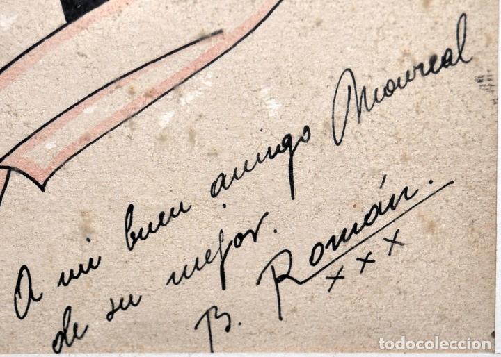 Arte: FIRMADO B. ROMÁN. DIBUJO A TINTA Y ACUARELADO. FECHADO DEL 1930 - Foto 3 - 96067147