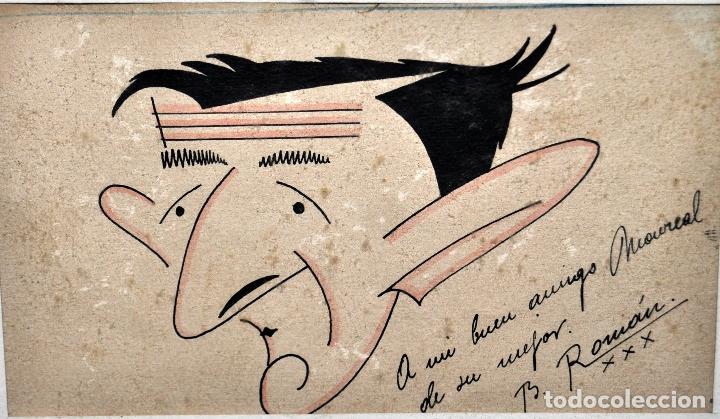 Arte: FIRMADO B. ROMÁN. DIBUJO A TINTA Y ACUARELADO. FECHADO DEL 1930 - Foto 4 - 96067147