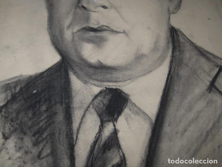 Arte: ANTIGUO DIBUJO A CARBONCILLO RETRATO PINTOR ARTISTICO AUTORRETRATO PINTOR DE ALICANTE - Foto 3 - 96098719