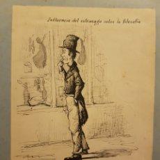 Arte: ALEJANDRO G. ARRIAGA, BILBAO, 1879, FIRMADO Y FECHADO. DIBUJO A TINTA, ILUSTRACIÓN PARA REVISTA. . Lote 96193322