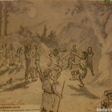 Arte: ALEJANDRO G. ARRIAGA. BILBAO. 1870S-80S DIBUJO ORIGINAL. GUDAZKON-JAYA CON DOCUMENTOS. . Lote 96193538
