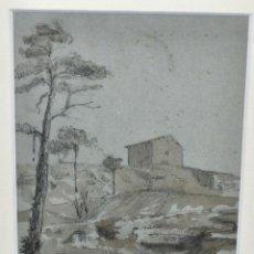 Arte: ESCUELA CATALANA DE AUTOR ILEGIBLE. TECNICA MIXTA SOBRE PAPEL. FECHADO DEL 1909. Lote 96756263
