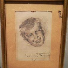 Arte: RETRATO DE CHICO POR JOSE CRUZ HERRERA (1890-1972). Lote 114602343