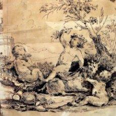Arte: DIONISOS NIÑO. TINTA SOBRE PAPEL. FIRMA DESCONOCIDA. FRANCIA(?). XVII-XVIII. Lote 97276539
