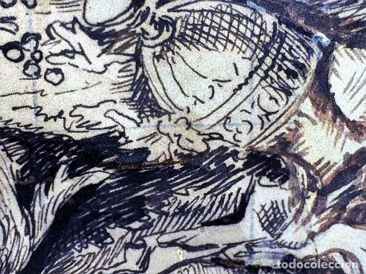 Arte: DIONISOS NIÑO. TINTA SOBRE PAPEL. FIRMA DESCONOCIDA. FRANCIA(?). XVII-XVIII - Foto 4 - 97276539