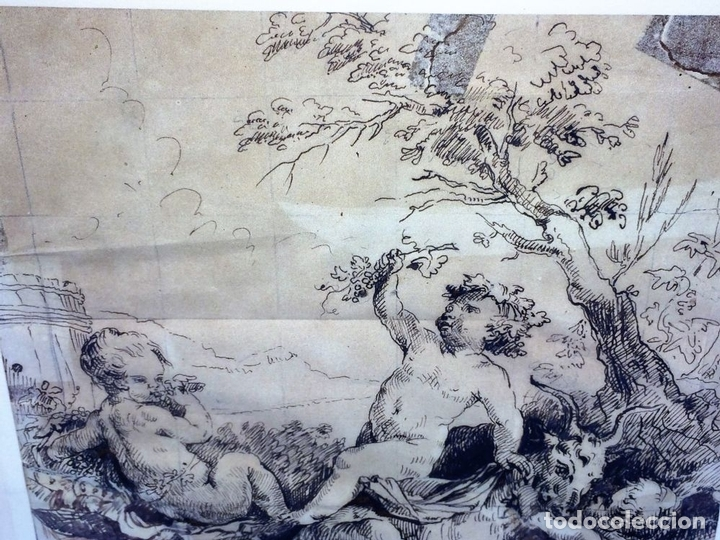 Arte: DIONISOS NIÑO. TINTA SOBRE PAPEL. FIRMA DESCONOCIDA. FRANCIA(?). XVII-XVIII - Foto 6 - 97276539