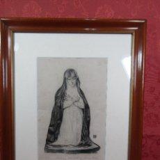 Arte: DIBUJO AL CARBON DE MIGUEL UTRILLO MORLIUS. Lote 97926871