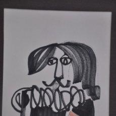 Arte: RODOLFO ALVAREZ SANTALÓ , DIBUJO A TINTA ORIGINAL FIRMADO Y FECHADA EN 1973. Lote 98198699