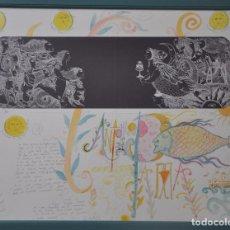 Art: JUAN CARLOS MESTRE , GRABADO CON ACUARELA ORIGINAL CON DEDICATORIA MANUSCRITA. Lote 98205807