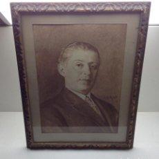 Arte: PINTURA CATALANA CARBONCILLO ORIGINAL JOSE MARIA MARQUES GARCIA FECHADO EN 1927. Lote 98375955