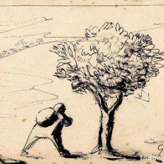 Arte: MANUEL GIL PÉREZ (MANOLO GIL) | TINTA SOBRE PAPEL | 1950. Lote 98476359