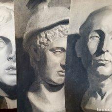 Arte: LOTE DE 3 DIBUJOS ACADÉMICOS REALIZADOS A CARBONCILLO, DE GRAN CALIDAD, 32X47CM FIRMADOS BAYLACH. Lote 99295002