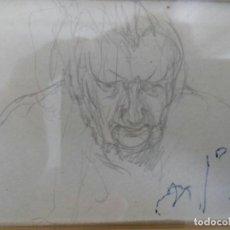 Arte: NICANOR PIÑOLE (1.878 -1.978), RETRATO DE SU MADRE, BRÍGIDA RODRÍGUEZ PRENDES, LÁPIZ SOBRE PAPEL. Lote 99354299