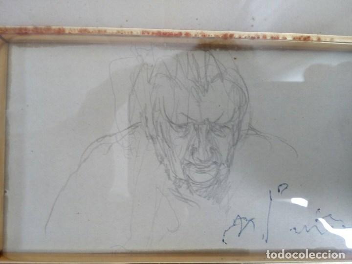 Arte: NICANOR PIÑOLE (1.878 -1.978), RETRATO DE SU MADRE, BRÍGIDA RODRÍGUEZ PRENDES, LÁPIZ SOBRE PAPEL - Foto 2 - 99354299