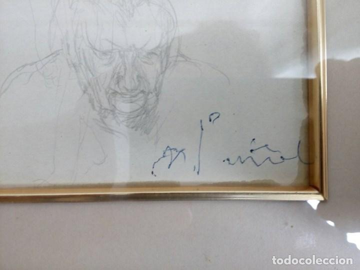 Arte: NICANOR PIÑOLE (1.878 -1.978), RETRATO DE SU MADRE, BRÍGIDA RODRÍGUEZ PRENDES, LÁPIZ SOBRE PAPEL - Foto 3 - 99354299