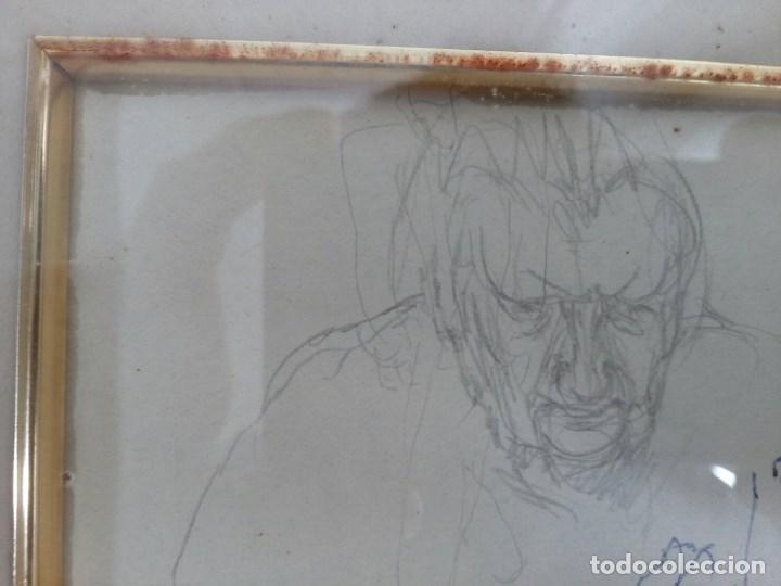 Arte: NICANOR PIÑOLE (1.878 -1.978), RETRATO DE SU MADRE, BRÍGIDA RODRÍGUEZ PRENDES, LÁPIZ SOBRE PAPEL - Foto 4 - 99354299
