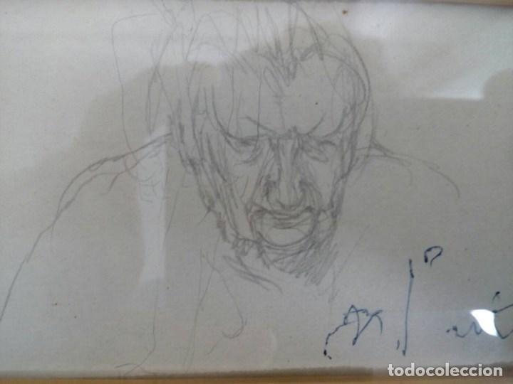 Arte: NICANOR PIÑOLE (1.878 -1.978), RETRATO DE SU MADRE, BRÍGIDA RODRÍGUEZ PRENDES, LÁPIZ SOBRE PAPEL - Foto 5 - 99354299