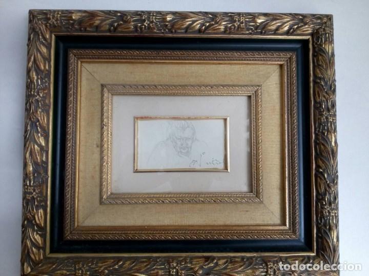 Arte: NICANOR PIÑOLE (1.878 -1.978), RETRATO DE SU MADRE, BRÍGIDA RODRÍGUEZ PRENDES, LÁPIZ SOBRE PAPEL - Foto 6 - 99354299
