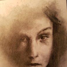 Arte: EXCELENTE RETRATO FEMENINO REALIZADO A CARBONCILLO, 30X21CM. Lote 99560842
