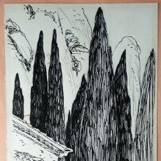 Arte: DIBUJO DE JOAQUIM BUDESCA I CATALÀ (VILANOVA I LA GELTRÚ, 1930). Lote 99663079
