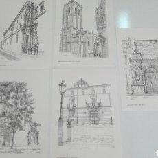 Arte: COLECCION DE 5 LAMINAS CON GRABADOS DE MONUMENTOS, PARA ENMARCAR.. Lote 99732932