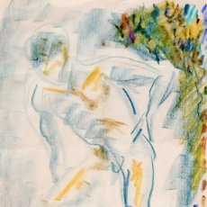 Arte: CASIMIRO MARTÍNEZ TARRASSÓ (BARCELONA, 1900-1979) TECNICA MIXTA SOBRE PAPEL. FIRMADO. Lote 99950207