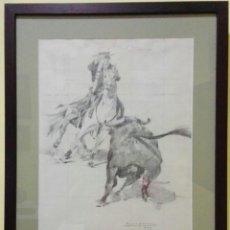 Arte: BOCETO REJONEO. RAFAEL SEMPERE (1928-2009). Lote 99990359