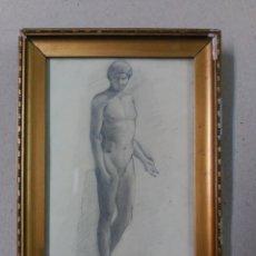 Arte: DIBUJO LAPIZ SOBRE PAPEL PRIMERA MITAD SIGLO XX. Lote 100140003