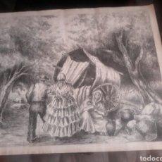 Arte: DIBUJO A PLUMILLA SIGLOXIX. Lote 100144976